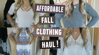 AFFORDABLE FALL CLOTHING HAUL! | BOOHOO