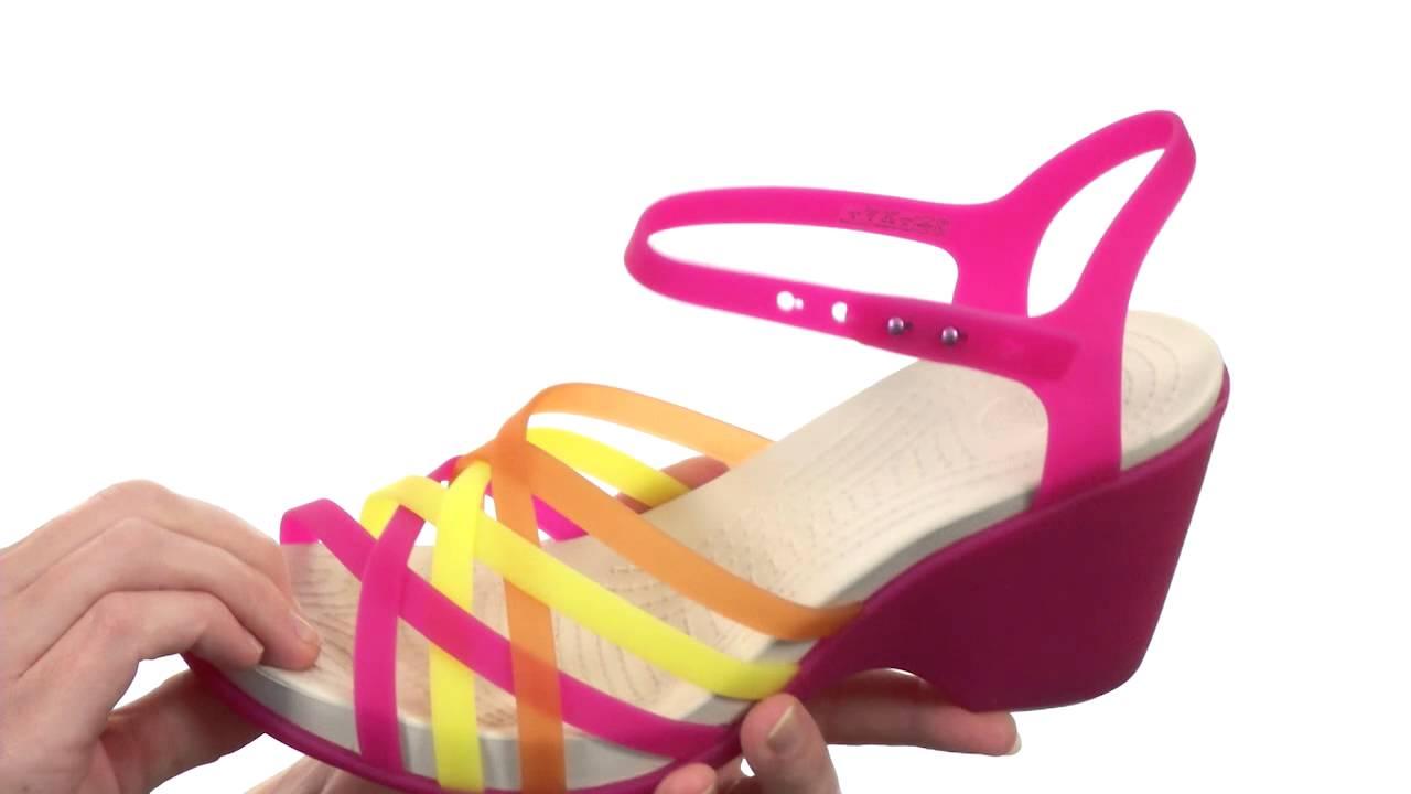 844857a6a6af Crocs - Huarache Sandal Wedge SKU  8259251 - YouTube