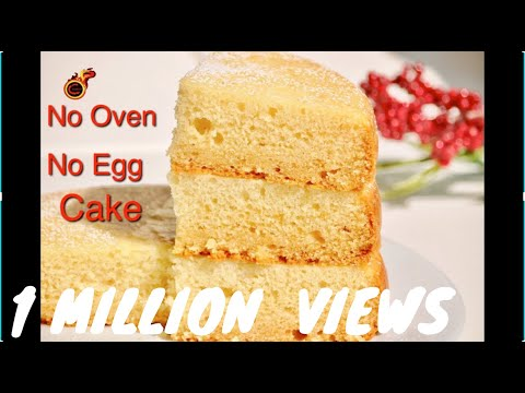 No Oven- No Egg- No Beater Vanilla Sponge Cake || Celebrating 6 Lakh Subscribers ||EP:425