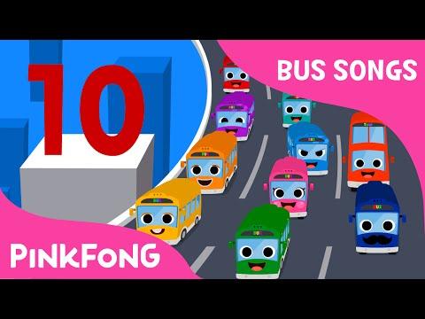 Ten Little Buses   Bus Songs   Car Songs   PINKFONG Songs