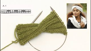 How to knit the head band in DROPS 173-8