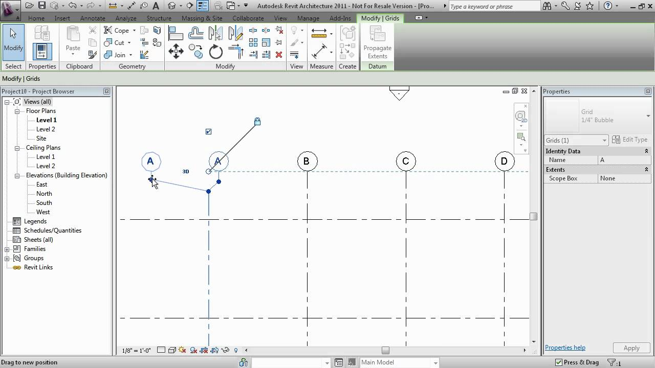 Drawing Lines In Revit : Revit creating grids youtube