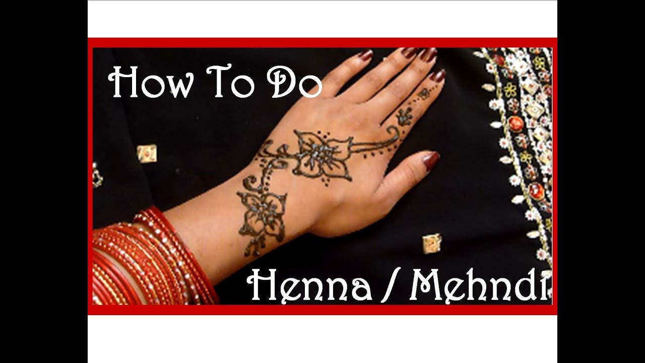 Diy easy henna tattoo tutorial and aftercare youtube for How to make a tattoo painless