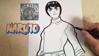 COMO DIBUJAR A ROCK LEE - NARUTO / how to draw rock lee - naruto