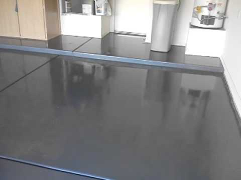 Gray Epoxy Floor Coating In Sun Lakes Youtube