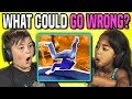 KIDS REACT TO WHAT COULD GO WRONG?! COMPILATION GAME