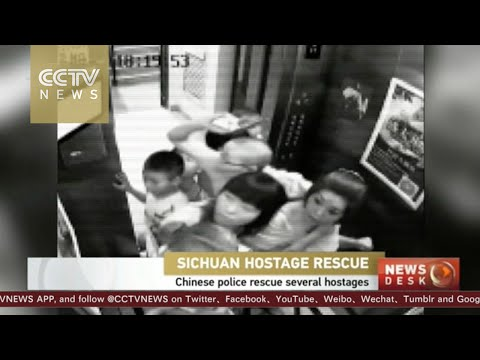 Footage: Chinese police rescue hostages in Sichuan