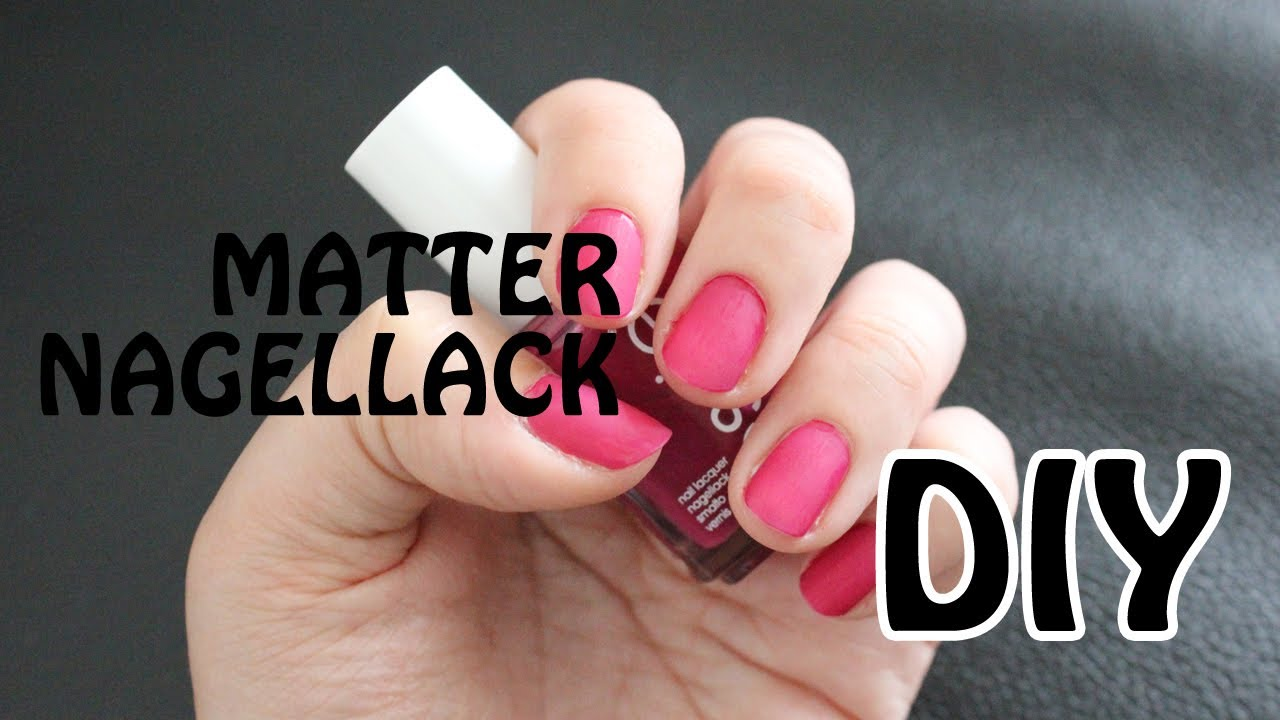 DIY Matter Nagellack - Let\'s Test - YouTube