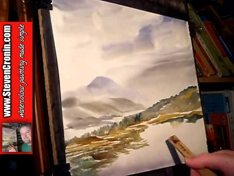 Watercolour Painting Tutorial featuring Ben Hope, Sutherland in Scotland