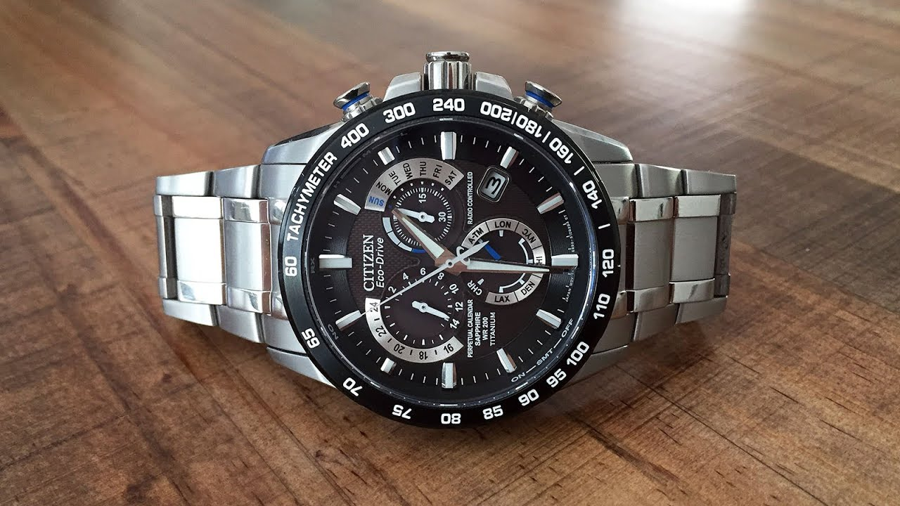Citizen Eco-Drive Atomic Time Perpetual Calendar Chronograph Review (AT4010-50E)  - Perth WAtch  13 - YouTube 9647b3b6a