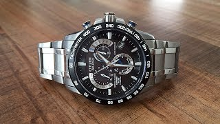 Citizen Eco-Drive Atomic Time Perpetual Calendar Chronograph Review (AT4010-50E) - Perth WAtch #13