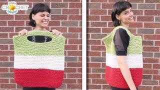 Big Market Tote Bag Crochet Pattern & Tutorial