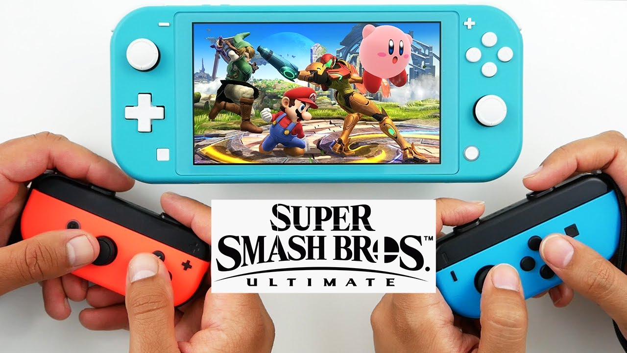 Super Smash Bros Ultimate Local Multiplayer Gameplay with Joycon's | Nintendo Switch LITE