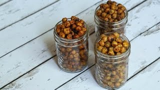 Back To School Snack Idea | Crunchy Roasted Chickpeas