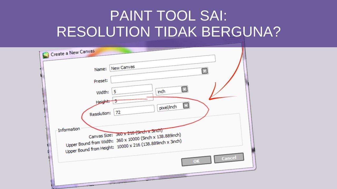 how to change resolution sai