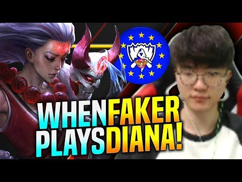 When FAKER Plays DIANA Mid! - SKT T1 Faker Plays Diana vs Kayle Mid! | SKT T1 Faker EUW SoloQ