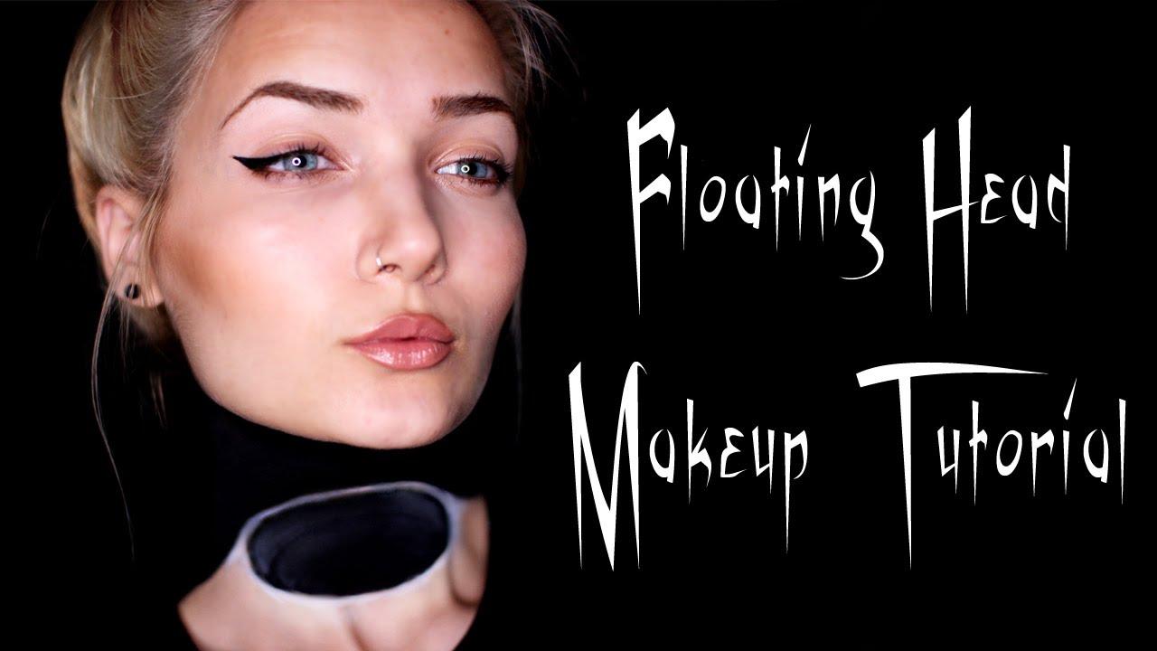 Hovering Head Halloween Makeup Tutorial || Last Minute - YouTube