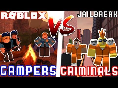 CAMPING COPS VS CRIMINALS! - Roblox Jailbreak 2 VS 2 Battle Ft. MyUsernamesThis JoeyDaPlayer Deejus