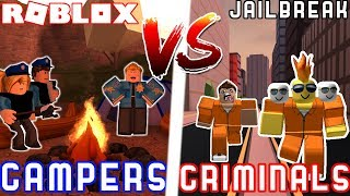 CAMPING COPS VS CRIMINALS! - Roblox Jailbreak 2 VS 2 Battle Ft. MyUsernamesThis JoeyDaPlayer Deejus