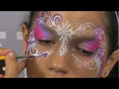 FabaTV: Pretty Face Painting Mask Design Tutorial