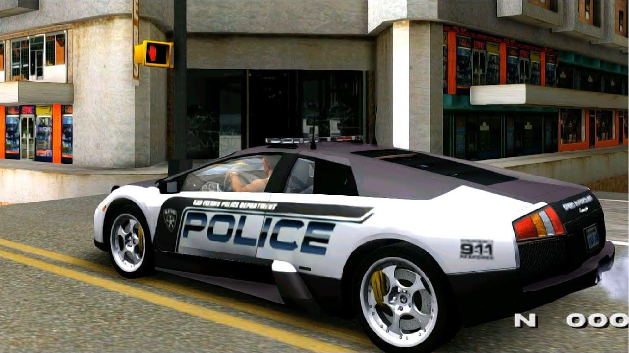Gta San Andreas Lamborghini Murcielago Police 2005 Mods