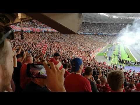 rpool fans singing One Kiss - Dua Lipa  Champions League final 2018
