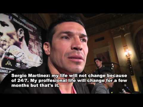 Sergio Martinez speaks on HBO 247