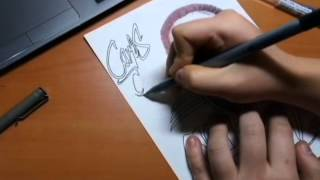 How to draw portrait - Carlos (Pen drawing)