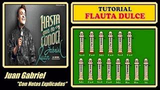 Juan Gabriel - Hasta que te conoci en Flauta Dulce
