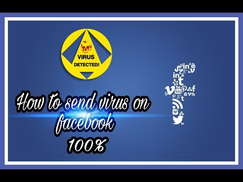 How to send virus on facebook