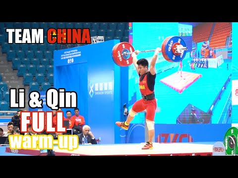 Li Fabin, Qin Fulin (61kg) Full Backstage Warm-up In IWF World Cup