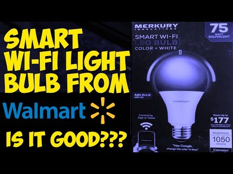 A $12 Walmart Smart Wifi LED Bulb Unboxing And Setup By Merkury Innovations