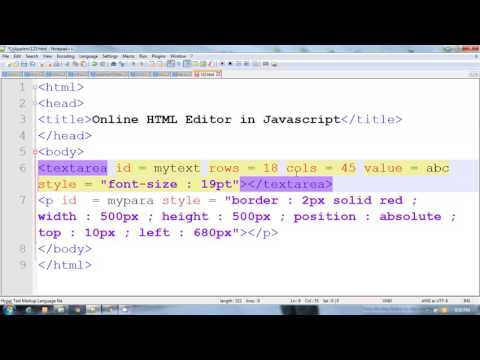 Online HTML Editor in Javascript  |  Hindi