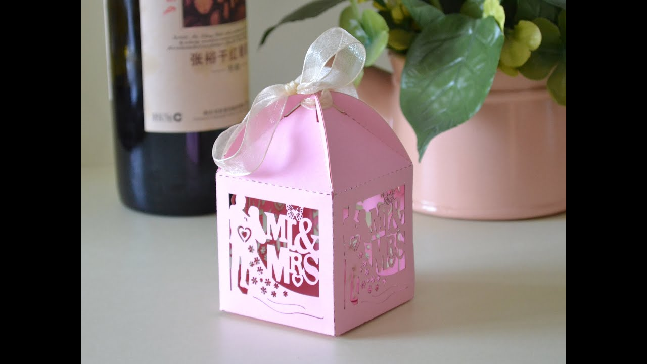 laser cutting wedding favor boxes by laser marker cel ...