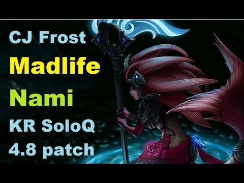 CJ Frost Madlife Nami Support feat. Faker Jax, Space Cog'Maw, CoCo Fiddle | Korean Solo Queue 4.8
