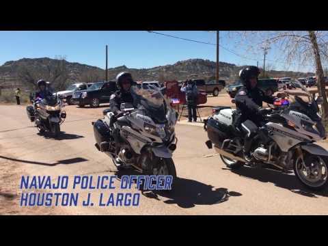 Navajo Police Officer Houston J.  Largo Funeral Procession