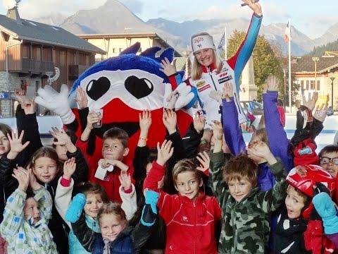 Adeline Baud - Rencontre avec les enfants du club Les Gets Ski Compétition