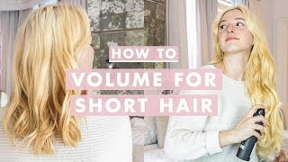 5 Tips To Get More Volume For Short Hair