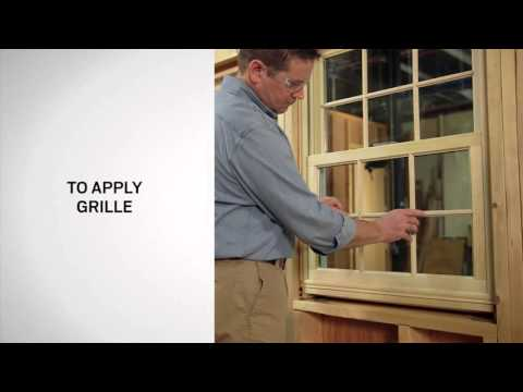Interior Grille Application and Removal on Andersen® 400 Series Woodwright Double-Hung Windows