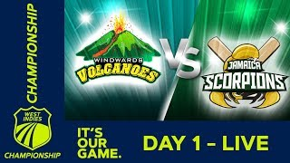 *LIVE West Indies Championship* - Day 1 | Windwards v Jamaica | Thursday 17th January 2019