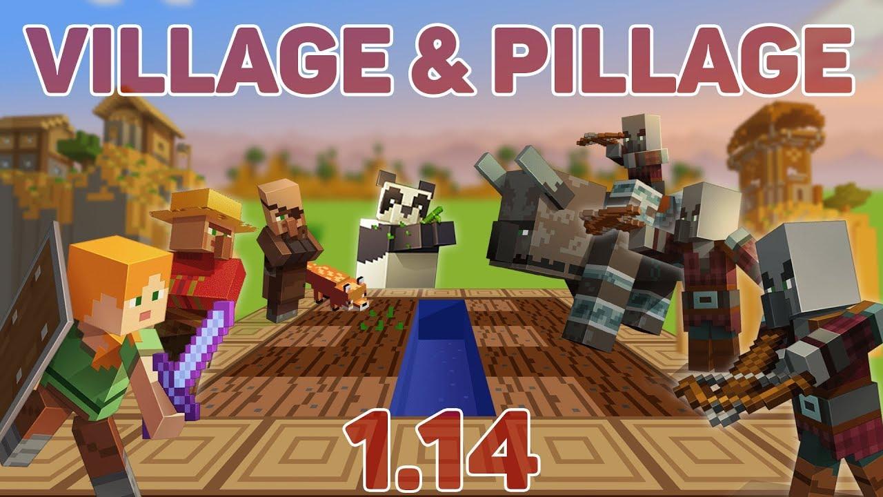 Minecraft 1.14 - VILLAGE & PILLAGE UPDATE CZ/SK - YouTube