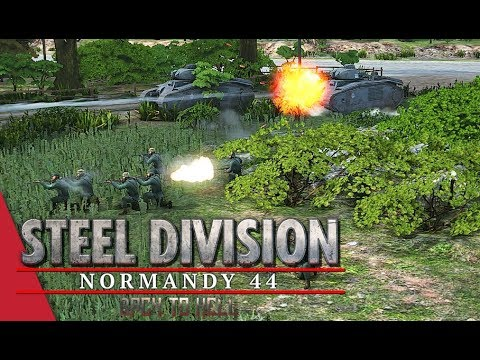 716th Only! Steel Division: Normandy 44 Gameplay (Mont Ormel, 4v4)