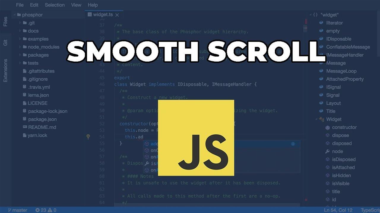 Vanilla Javascript Smooth Scroll Tutorial