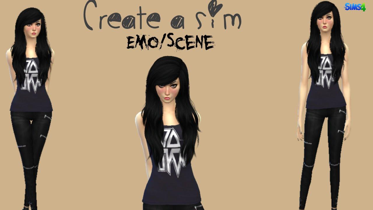 Sims4 Creating A Emo Scene Sim Youtube