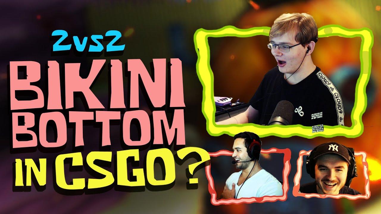 Can CARSON and SCHLATT Compete with the PROS? | CS:GO 2v2 in Bikini Bottom ft. Freakazoid
