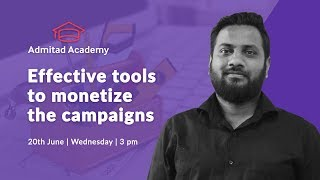 "Webinar ""Effective tools to monetize the campaigns"""