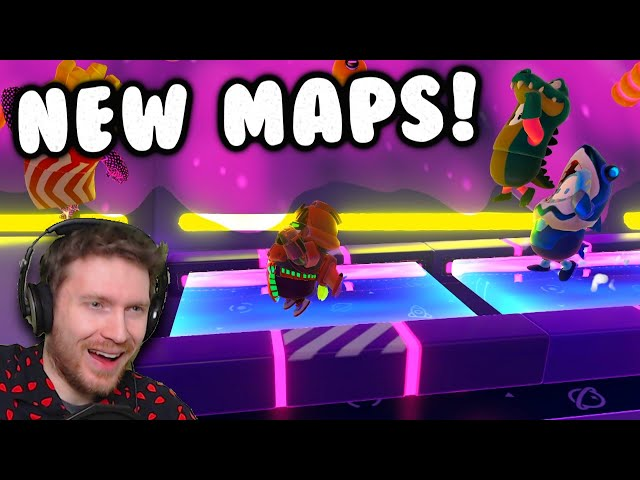 2 NEW MAPS OUT NOW!! | Fall Guys Season 4.5 CUSTOM GAMES and CROSSPLAY! 😄
