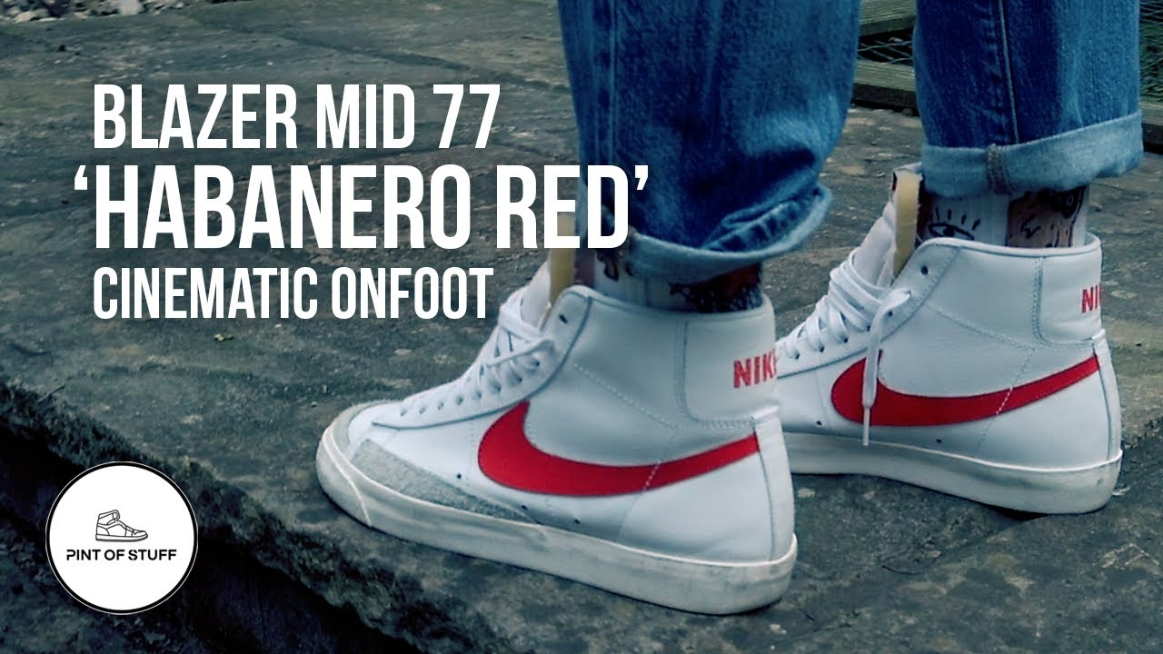 Nike Blazer Mid 77 'Habanero Red
