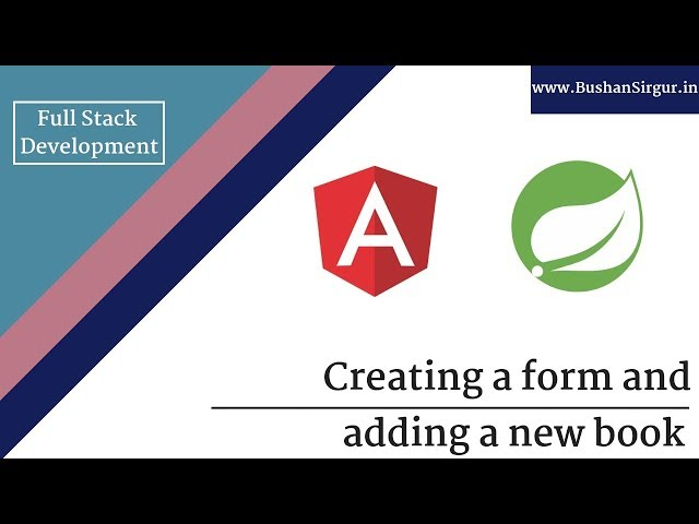 Angular and Spring MVC CRUD Tutorial - Creating a form and adding a new book - Part 19