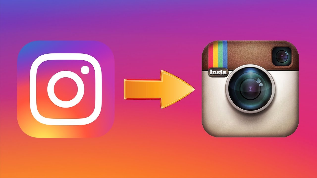 How to restore the old Instagram logo (IOS) - YouTube